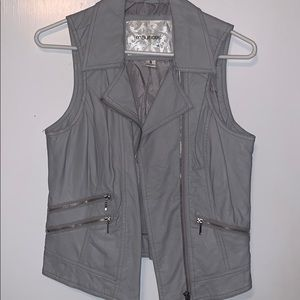 maurices leather vest